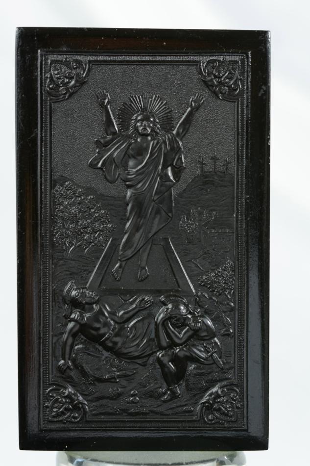 French beautiful religious plaque bois durci the resurrection of christ 19 thc - Plaque bois hydrofuge ...